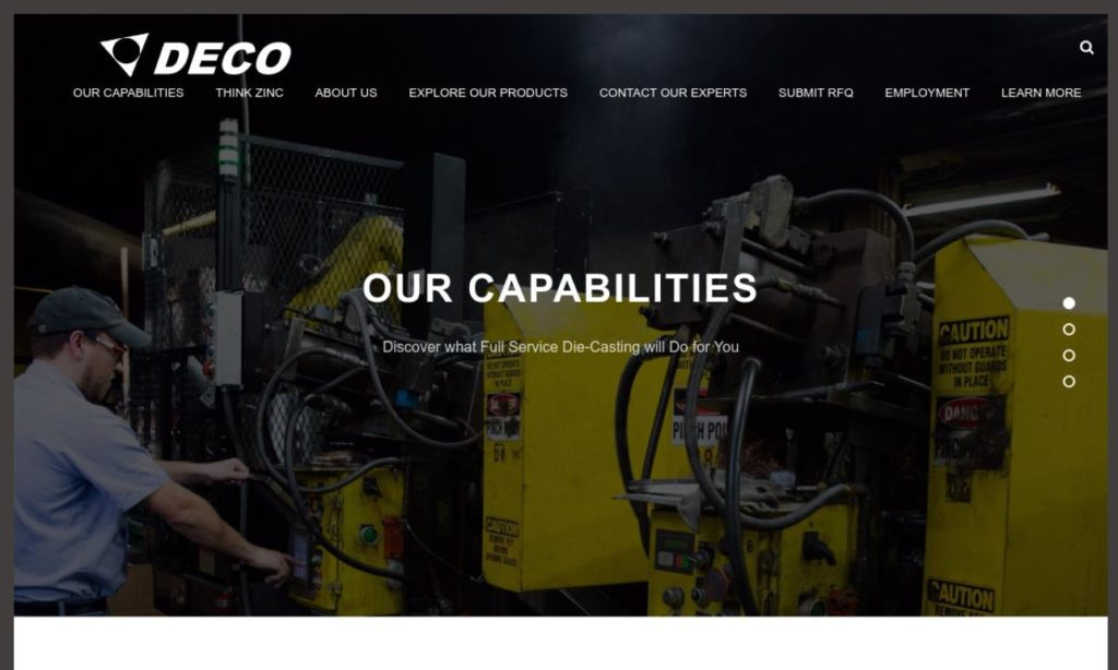 Deco Zinc Diecasting