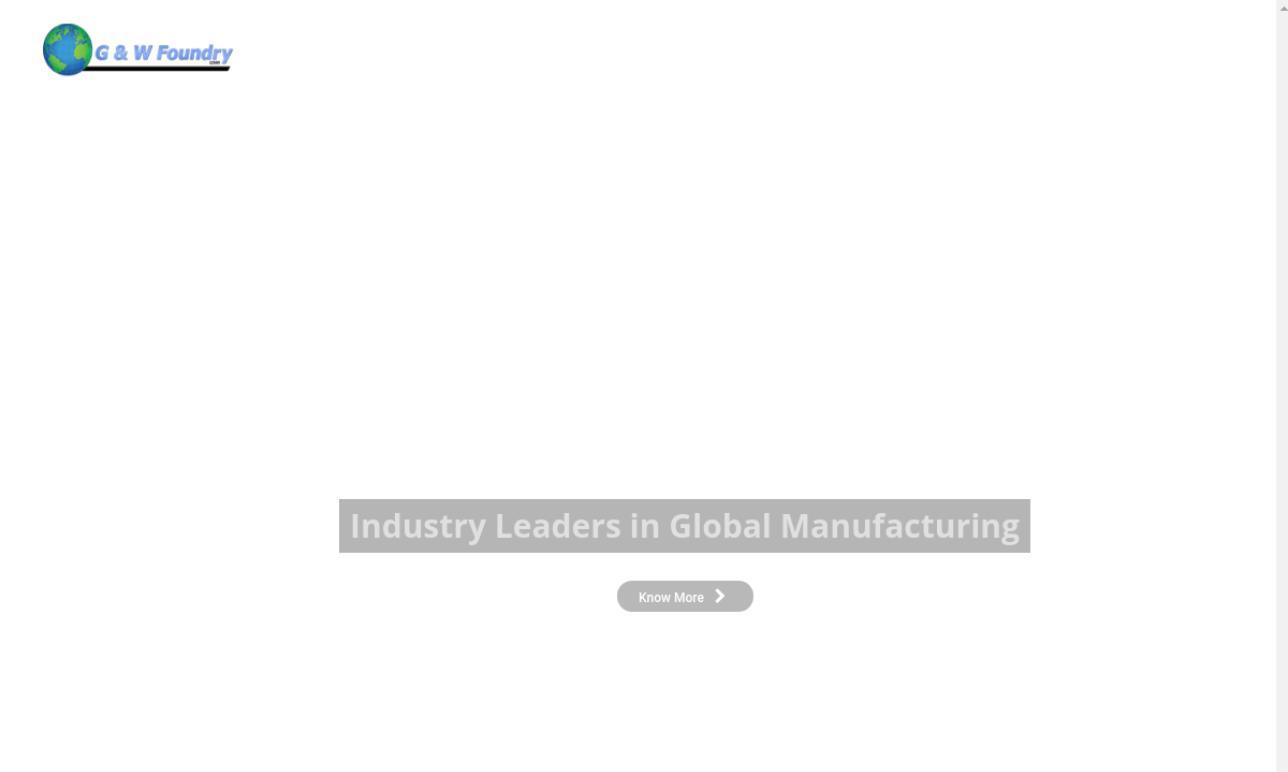 G & W Foundry, Inc.