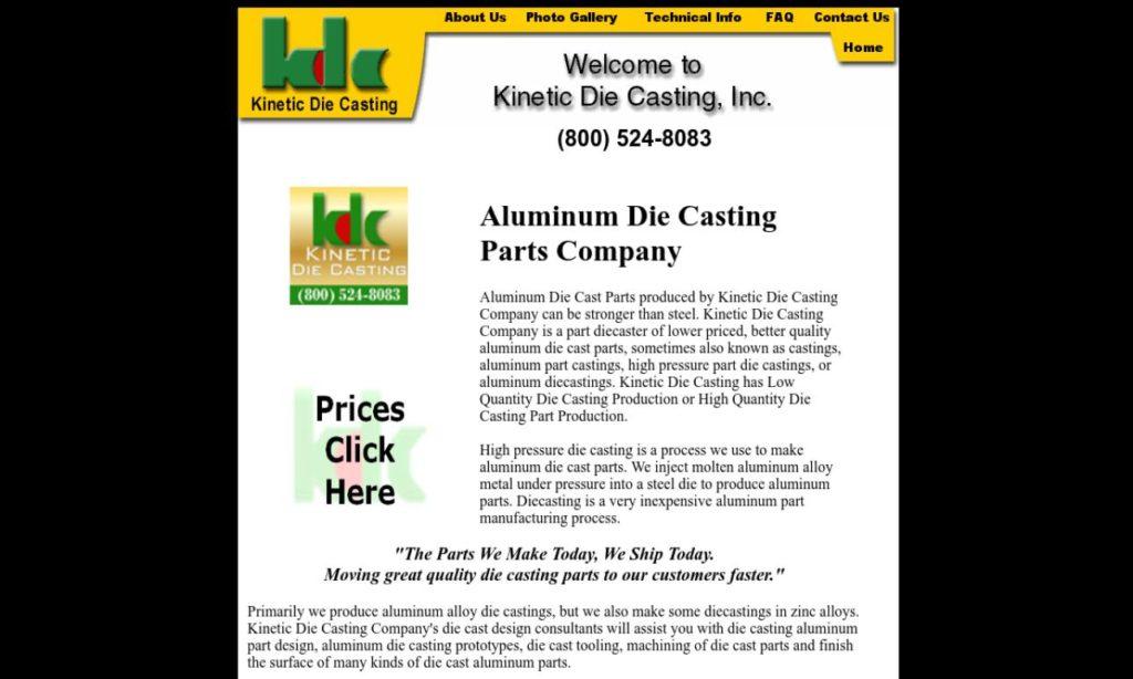 Kinetic Die Casting, Inc.