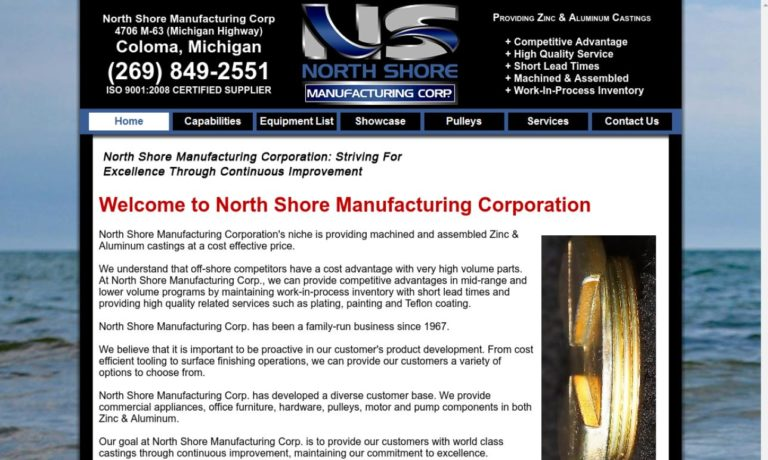 North Shore Manufacturing Corp.