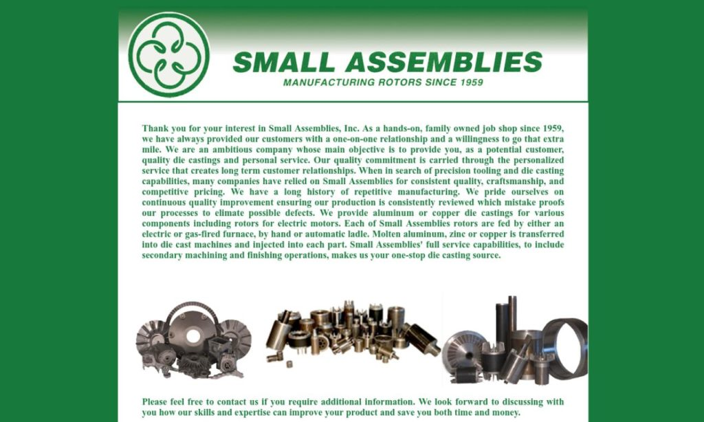 Small Assemblies, Inc.