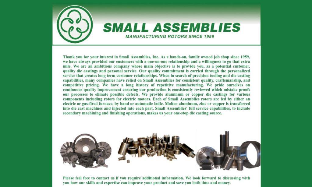 Small Assemblies, Inc.