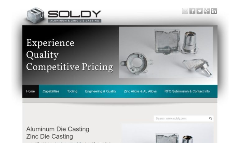 Soldy Aluminum and Zinc Die Casting