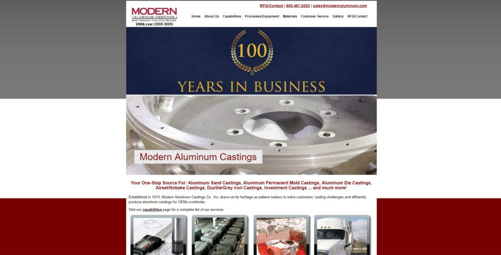 Modern Aluminum Castings Co., Inc.